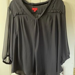 Elle 1 X sheer blouse with underlay attached NWT